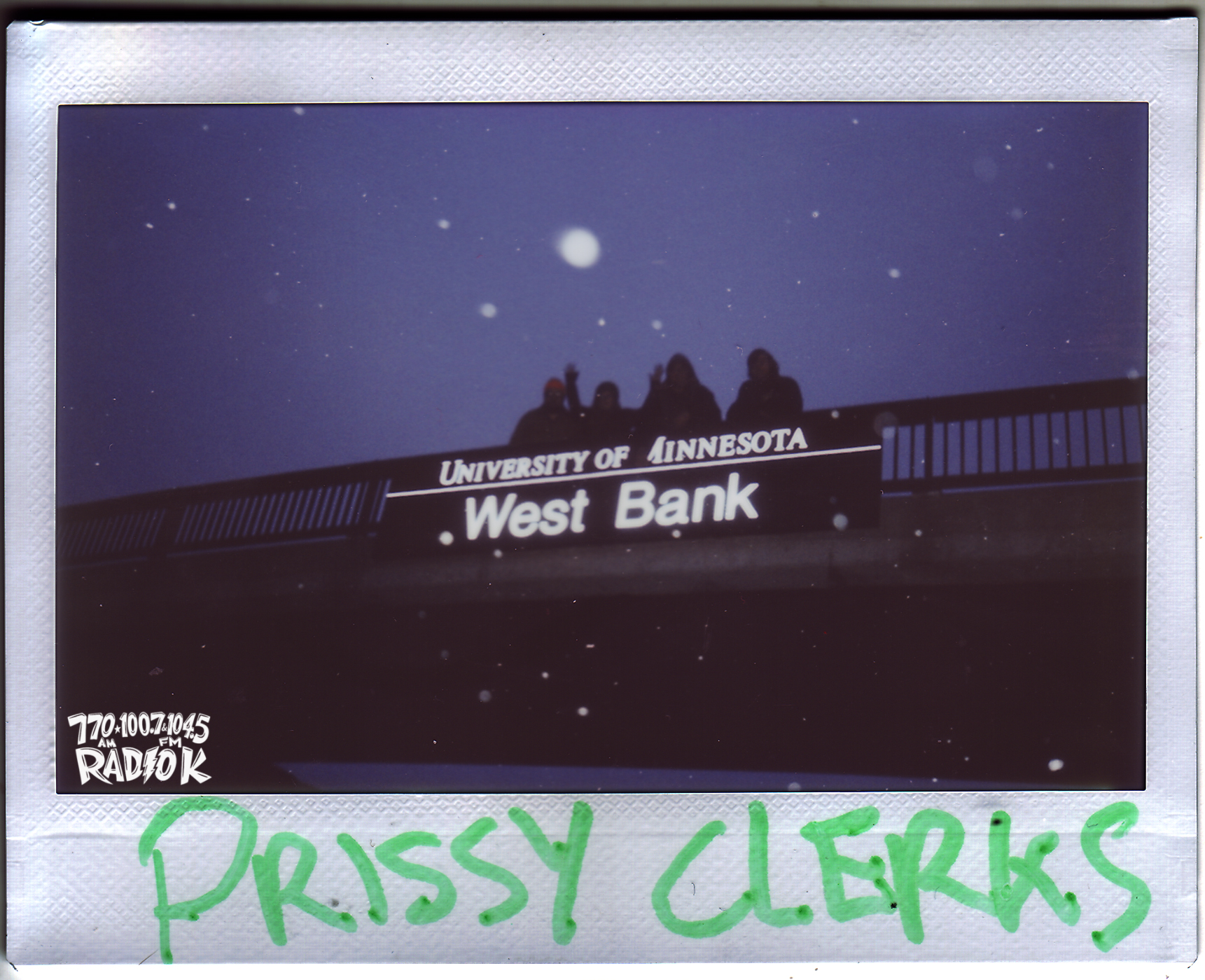 Prissy Clerks Radio K In-studio Polaroid