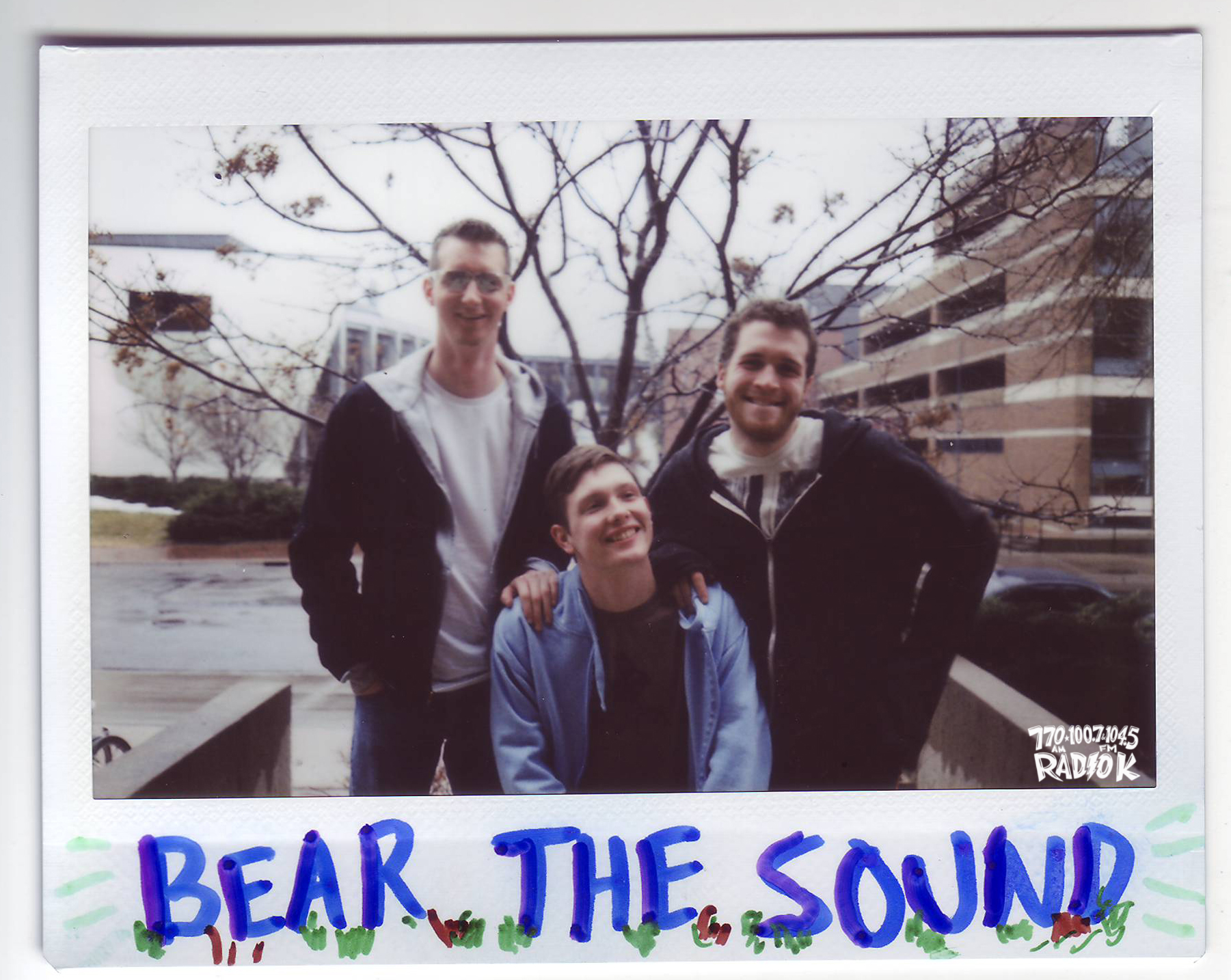 BEAR THE SOUND Radio K in-studio polaroid