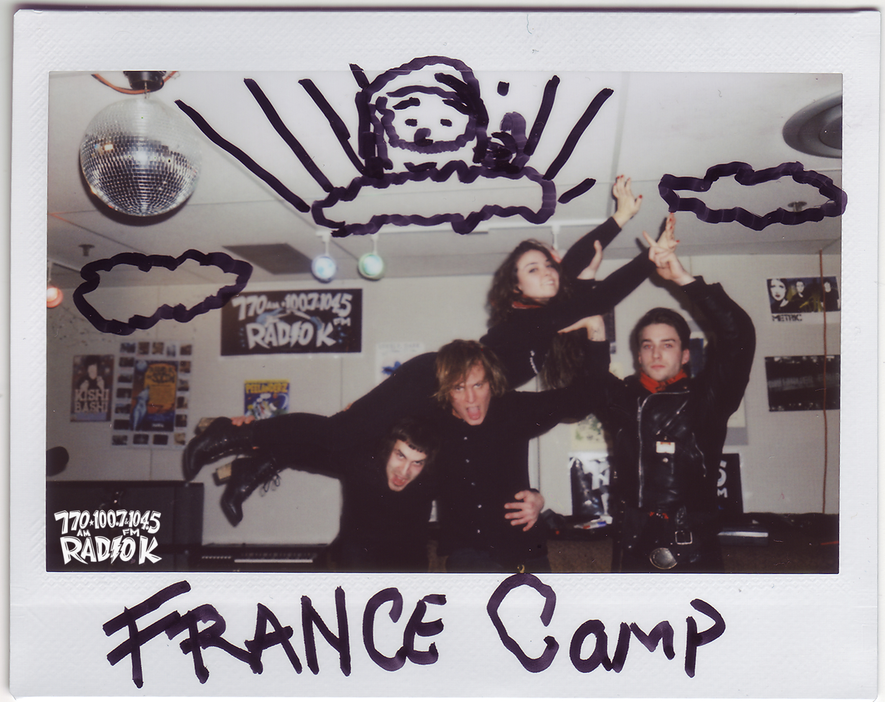 France Camp Radio K In-studio Polaroid