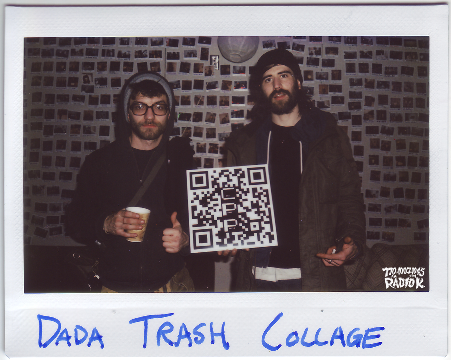 Dada Trash Collage Radio K In-Studio Polaroid