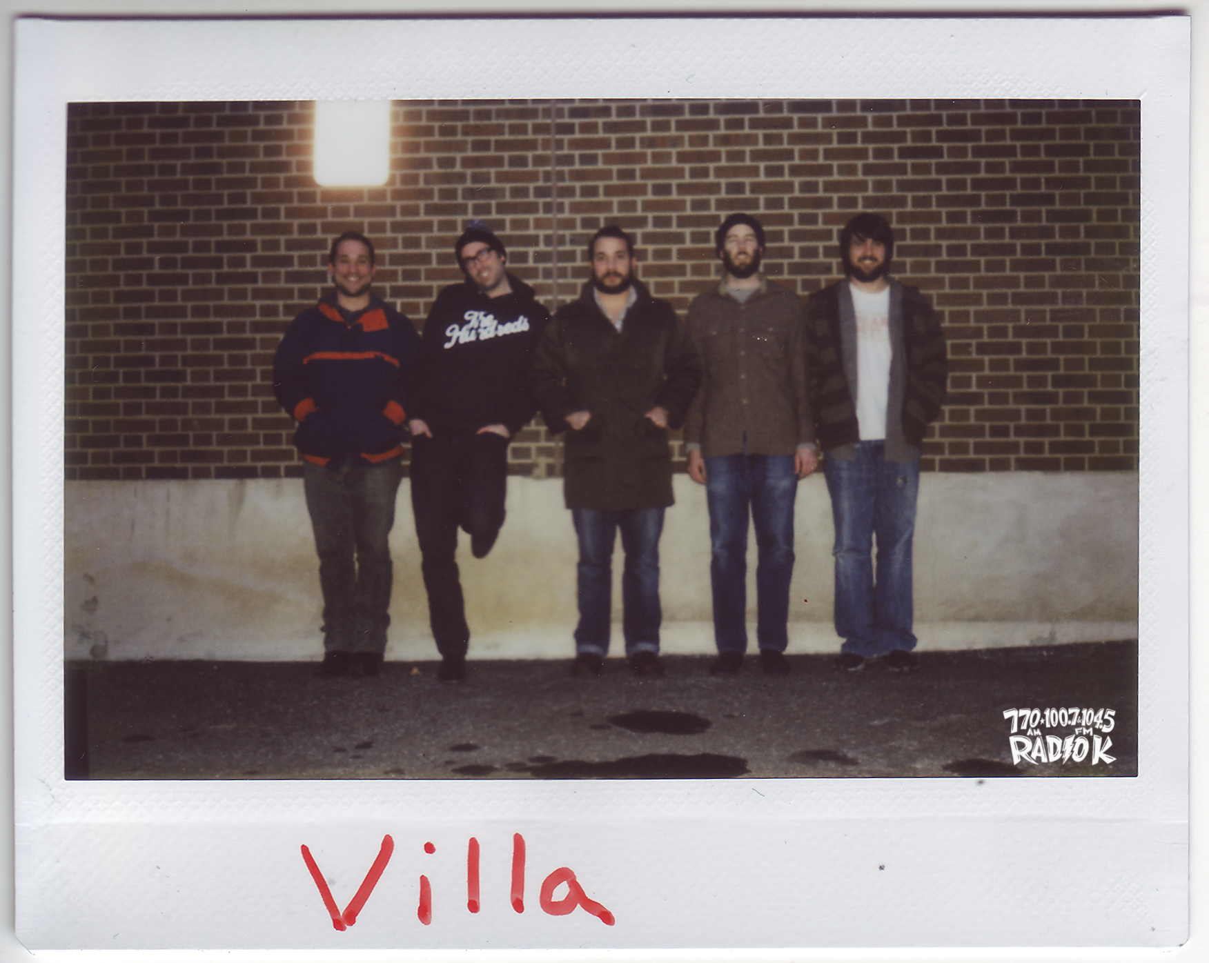 Villa Radio K In-studio Polaroid