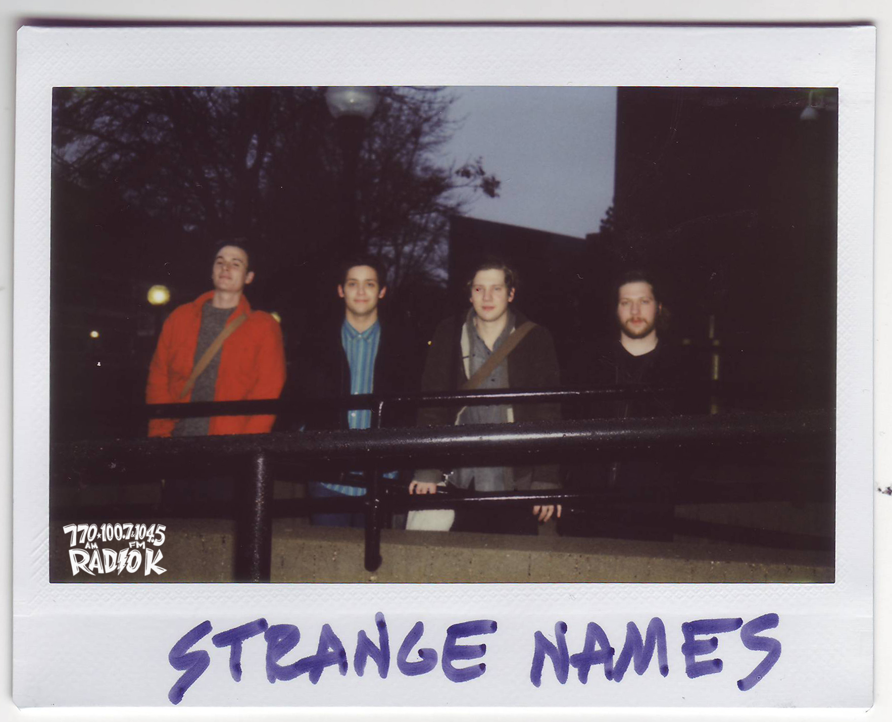 Strange Names Radio K In-studio Polaroid