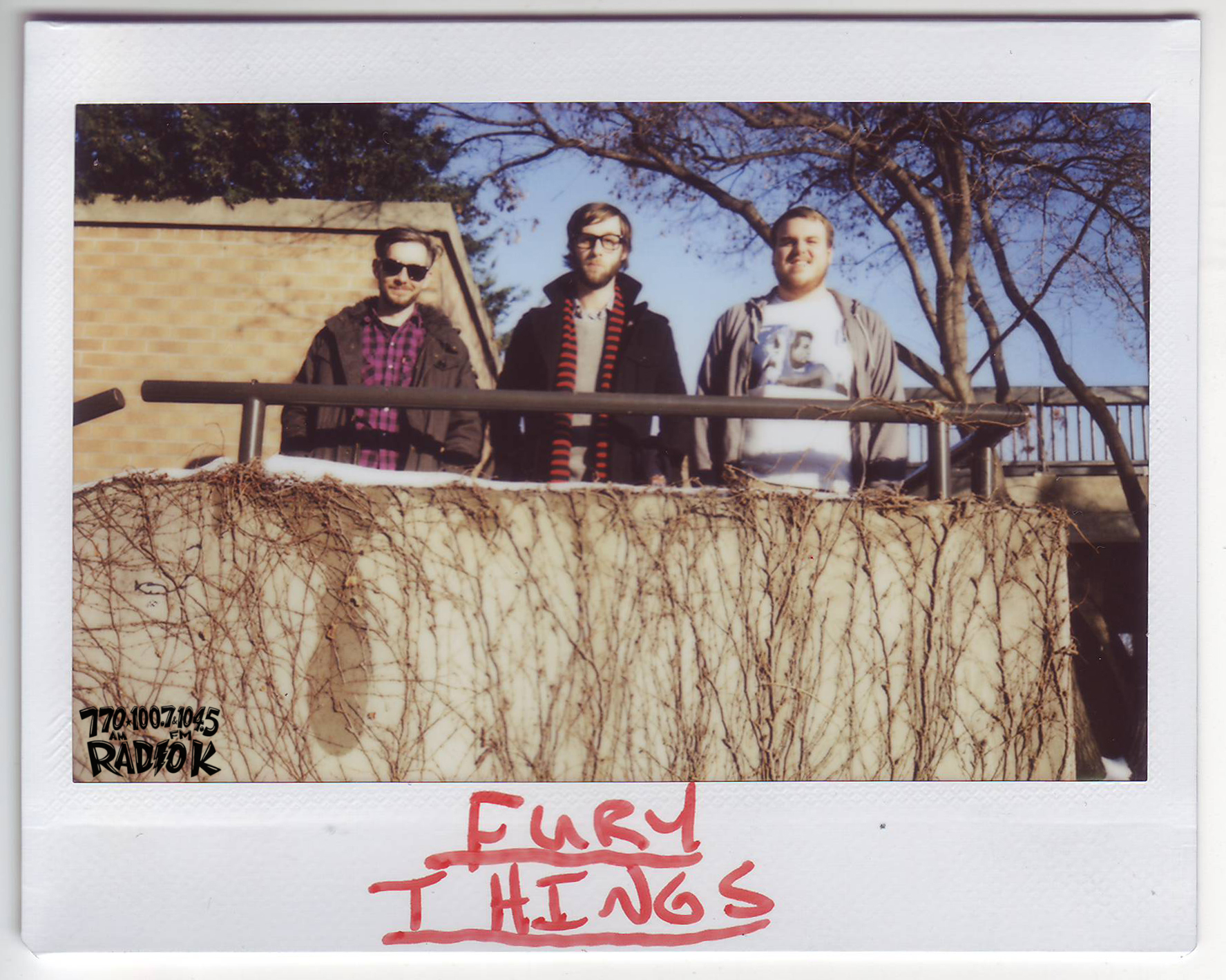 Fury Things Radio K In-studio Polaroid