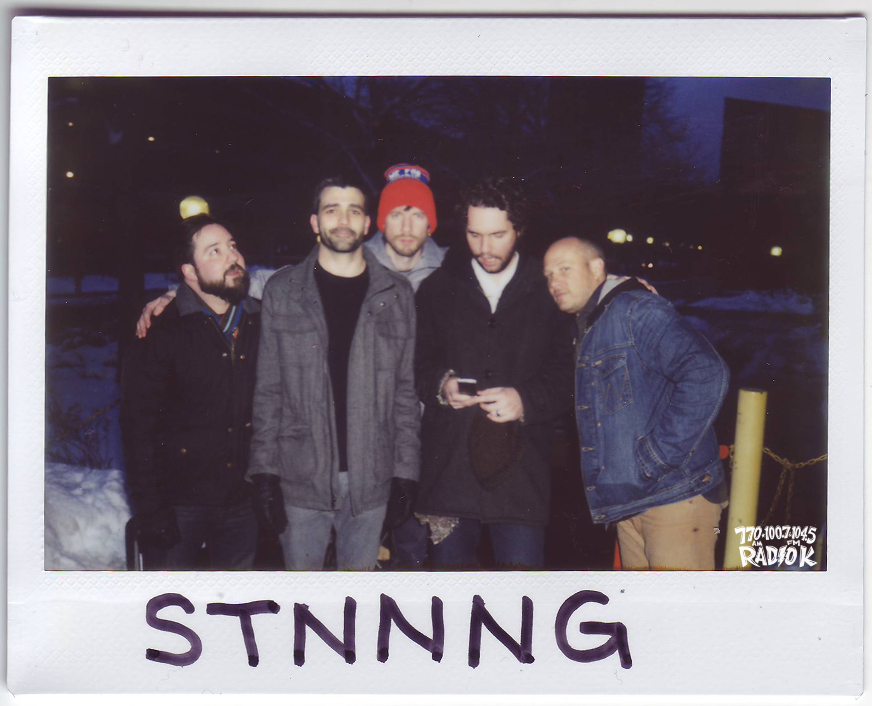 STNNNG Radio K In-Studio Polaroid