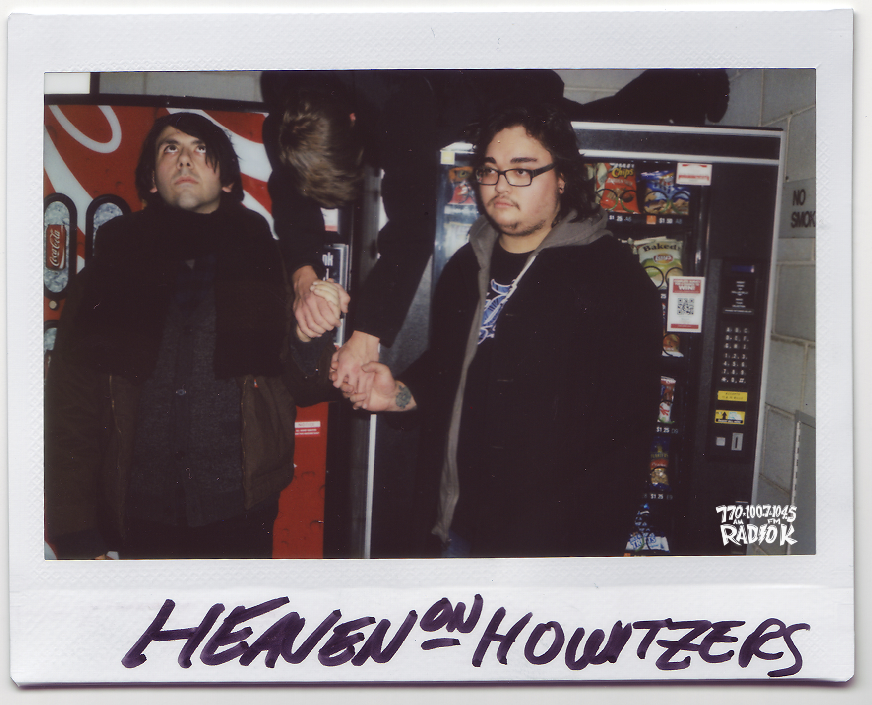 Heaven on Howitzers Radio K In-studio Polaroid