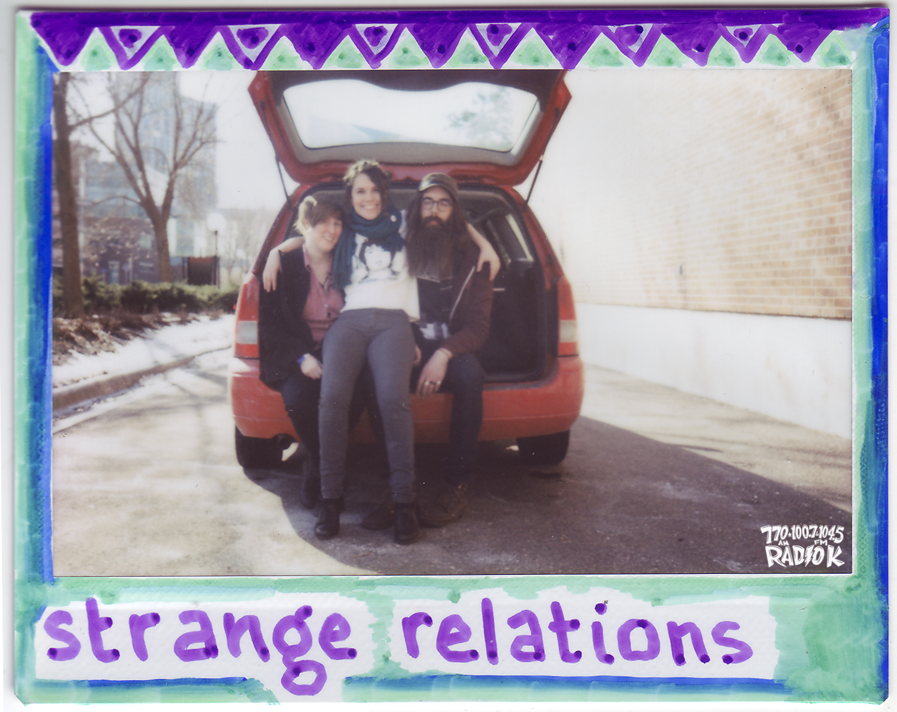 Strange Relations Radio K In-Studio Polaroid