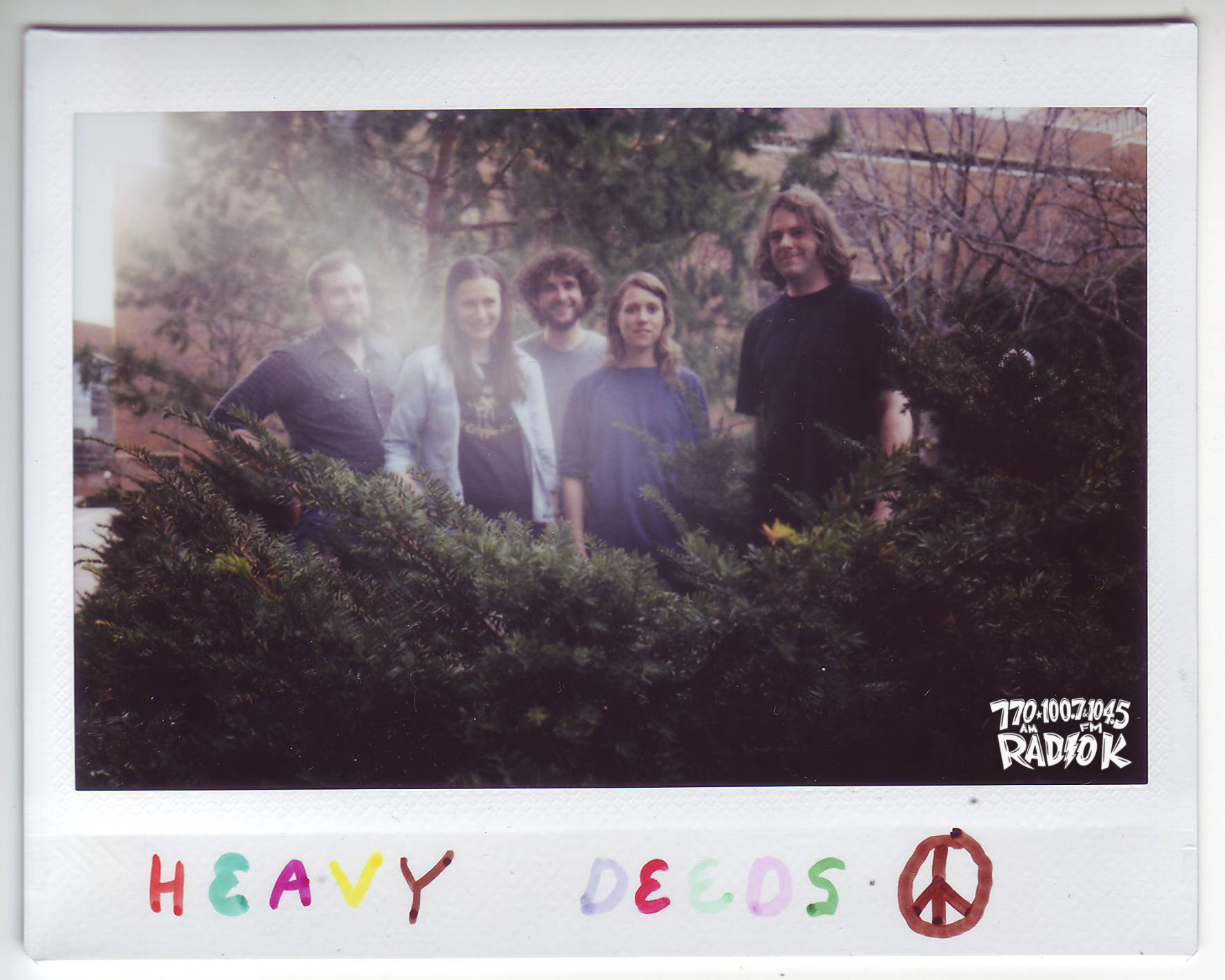 Heavy Deeds Radio K In-Studio Polaroid