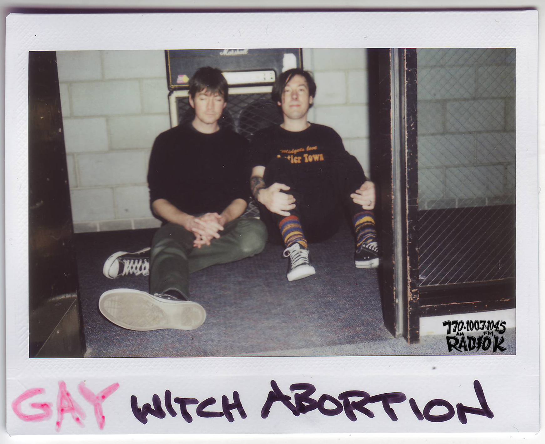 Gay Witch Abortion Radio K In-studio Polaroid - Off The Record